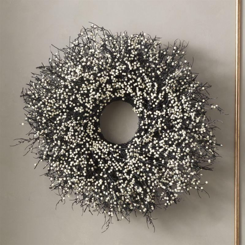 Shop Winter Berry Wreath. Winter round in minimalist black