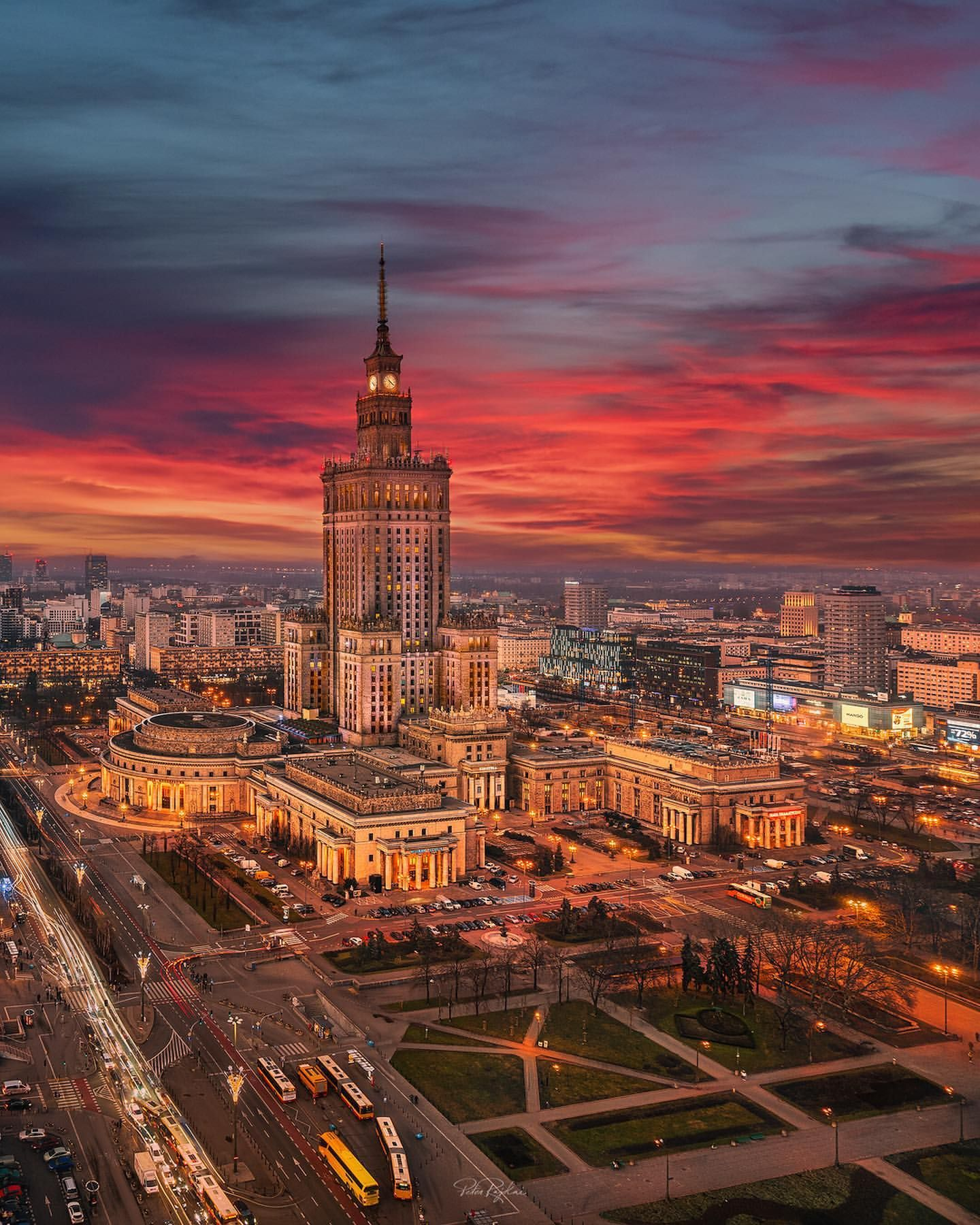 Warsaw Poland - Architecture and Urban Living - Modern and Historical Buildings - City Planning - Travel Photography Destinations - Amazing Beautiful Places