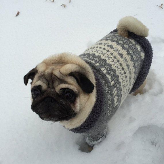 Dog Sweater Knit Dog Sweater Clothing For Dog Pug Coat Red Pug