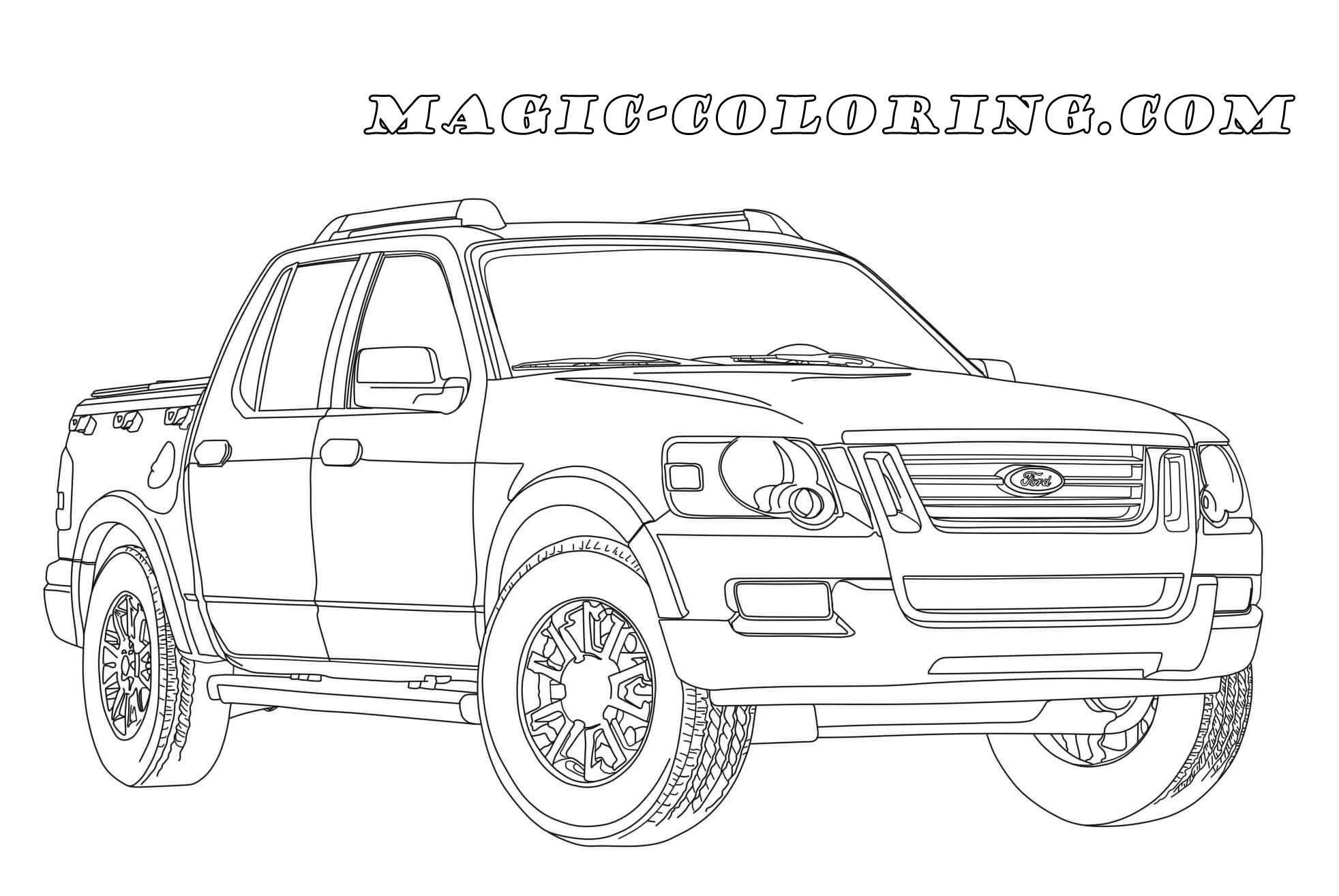 Transportation Coloring Pages Ford Explorer Sport Ford Explorer