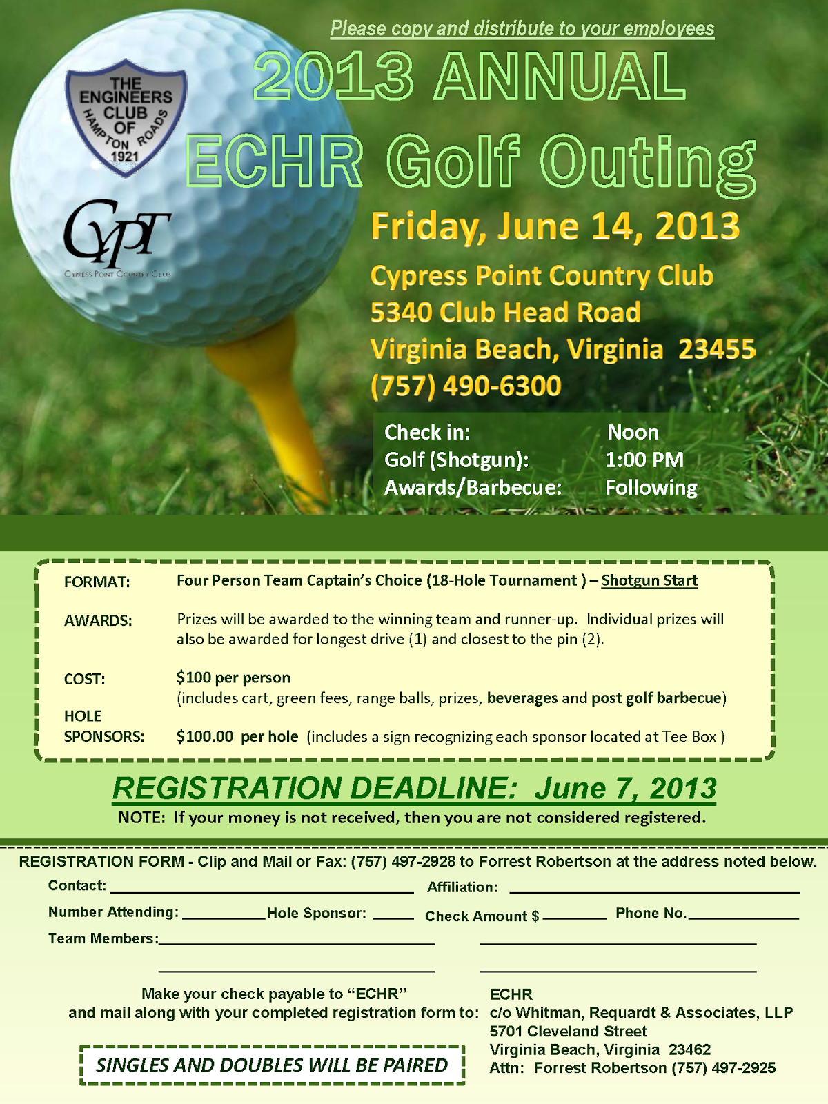 golf tournament flyer template free