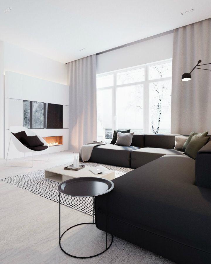 Minimalist Black And White Interior Deco Maison Decoration Maison Deco Salon