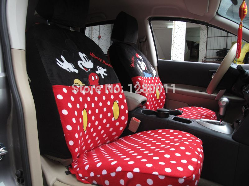 New Item Mickey Minnie Mouse Car Seat Covers Accessories For Toyota Corolla Ford Focus And So OnChina Mainland