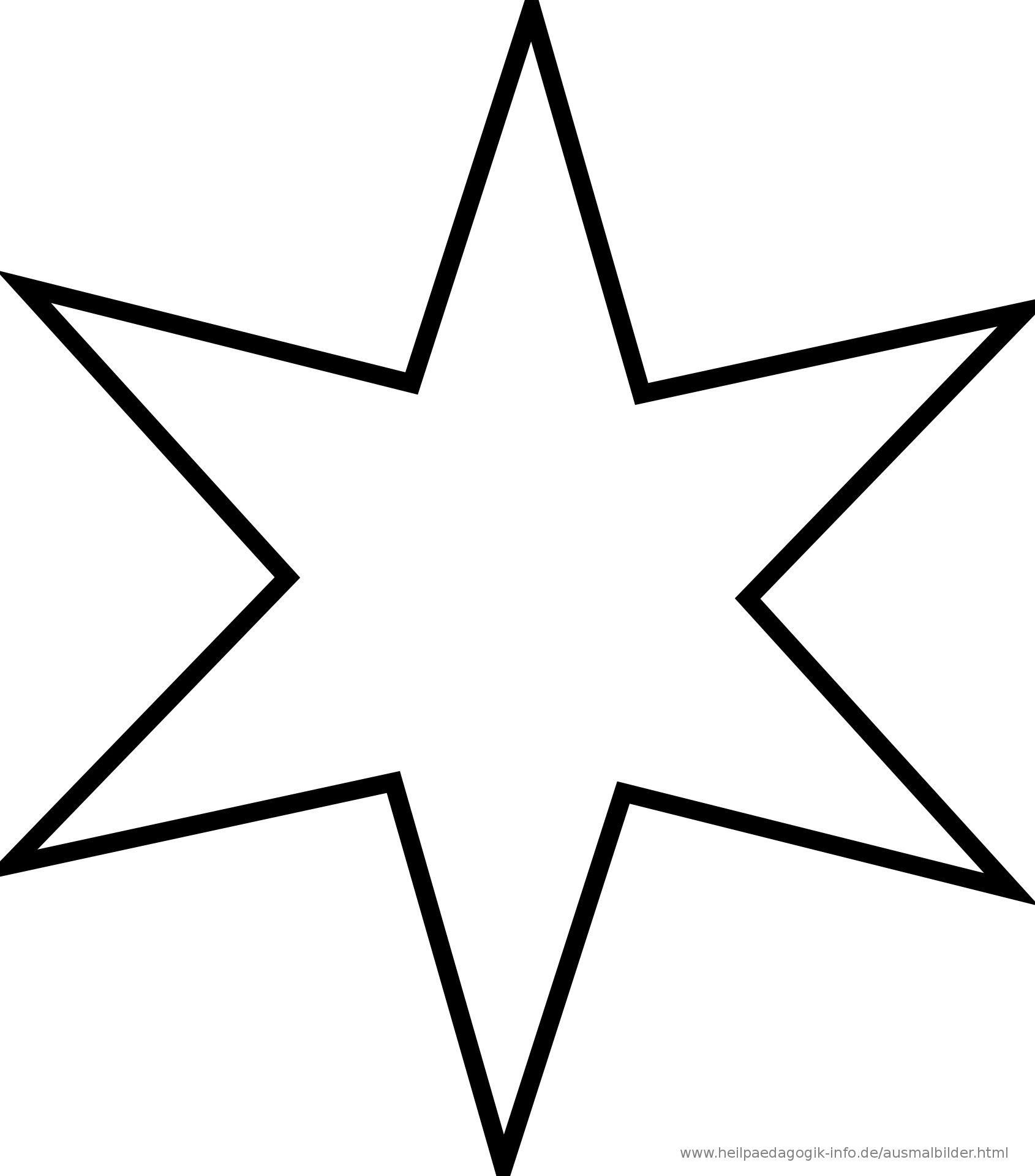 Ausmalbilder Zum Ausdrucken Sterne Modern Stern Vorlage