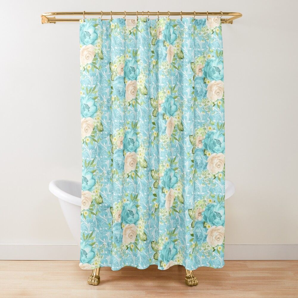 La Promenade Etui Portefeuille Iphone Blue Shower Curtains