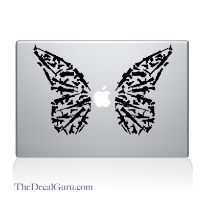 The Decal Guru  - Butterfly of Peace Macbook Decal, $11.99 (http://thedecalguru.com/product/butterfly-of-peace-macbook-decal/)