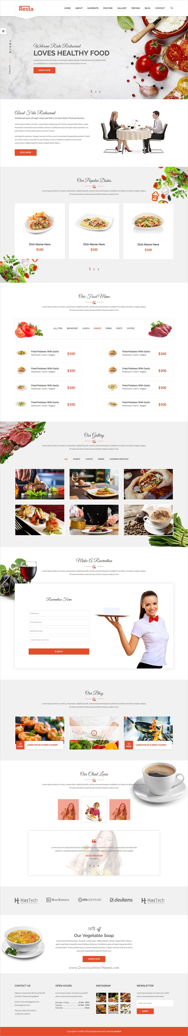 Resta Is A Wonderful Responsive Html Bootstrap Template For