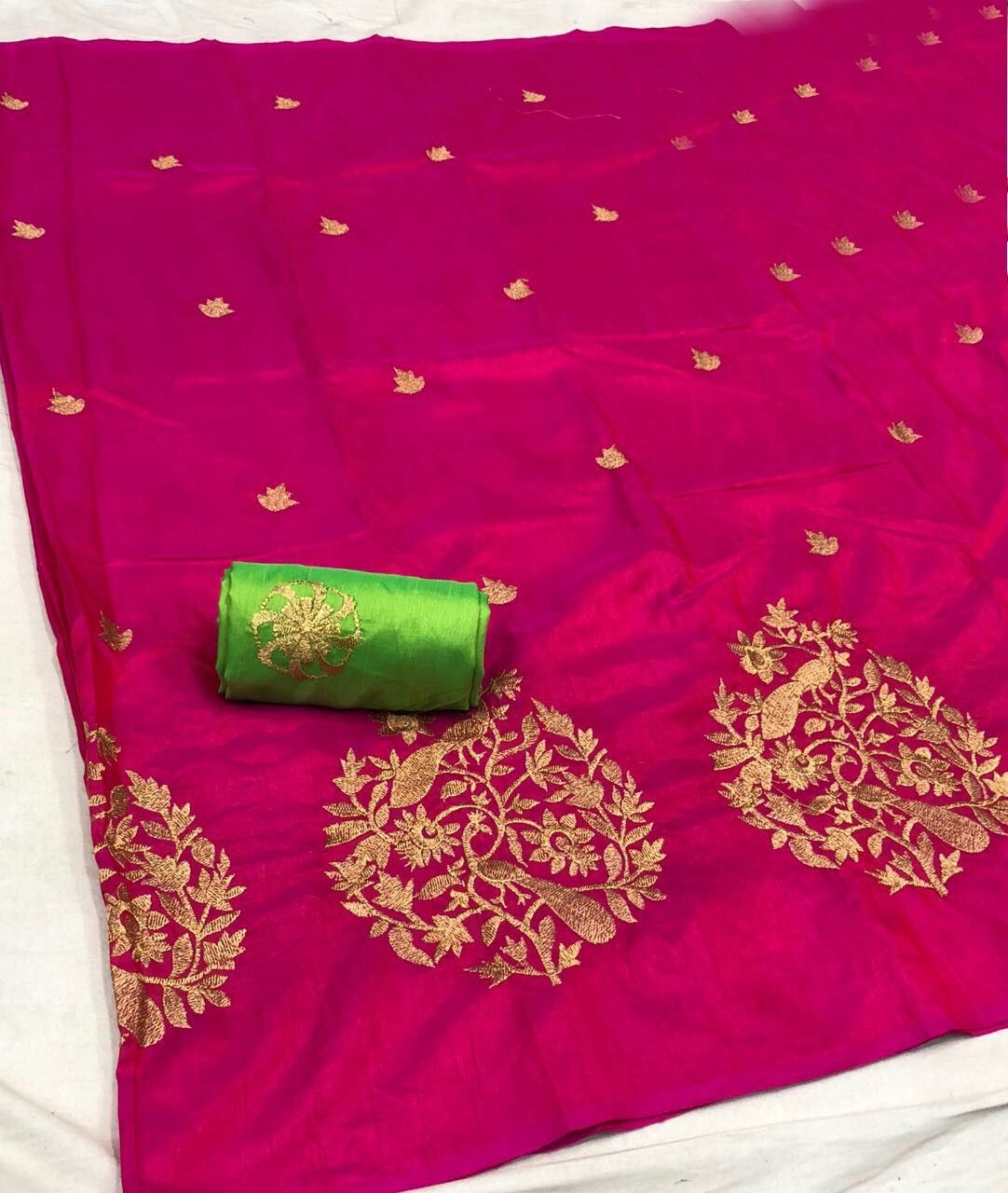 51164dca24d6e Sana silk with Beautiful Peacock work Saree