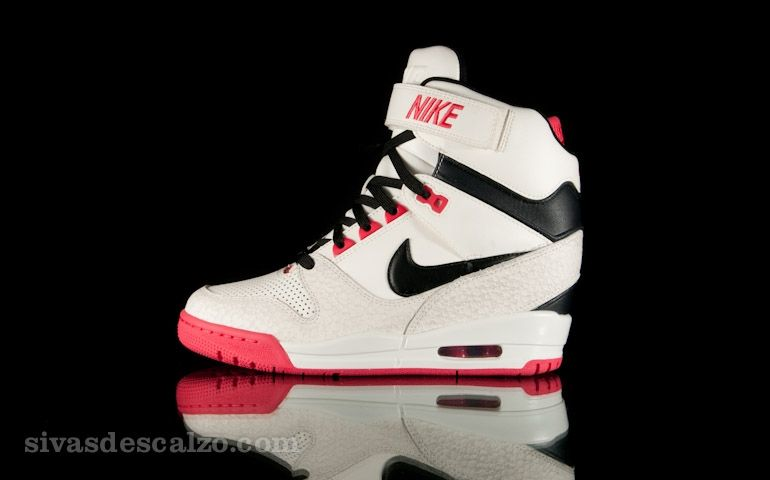 Wmns Nike Air Revolution Sky Hi Sail / Black / Red · Shoes SneakersNike ...