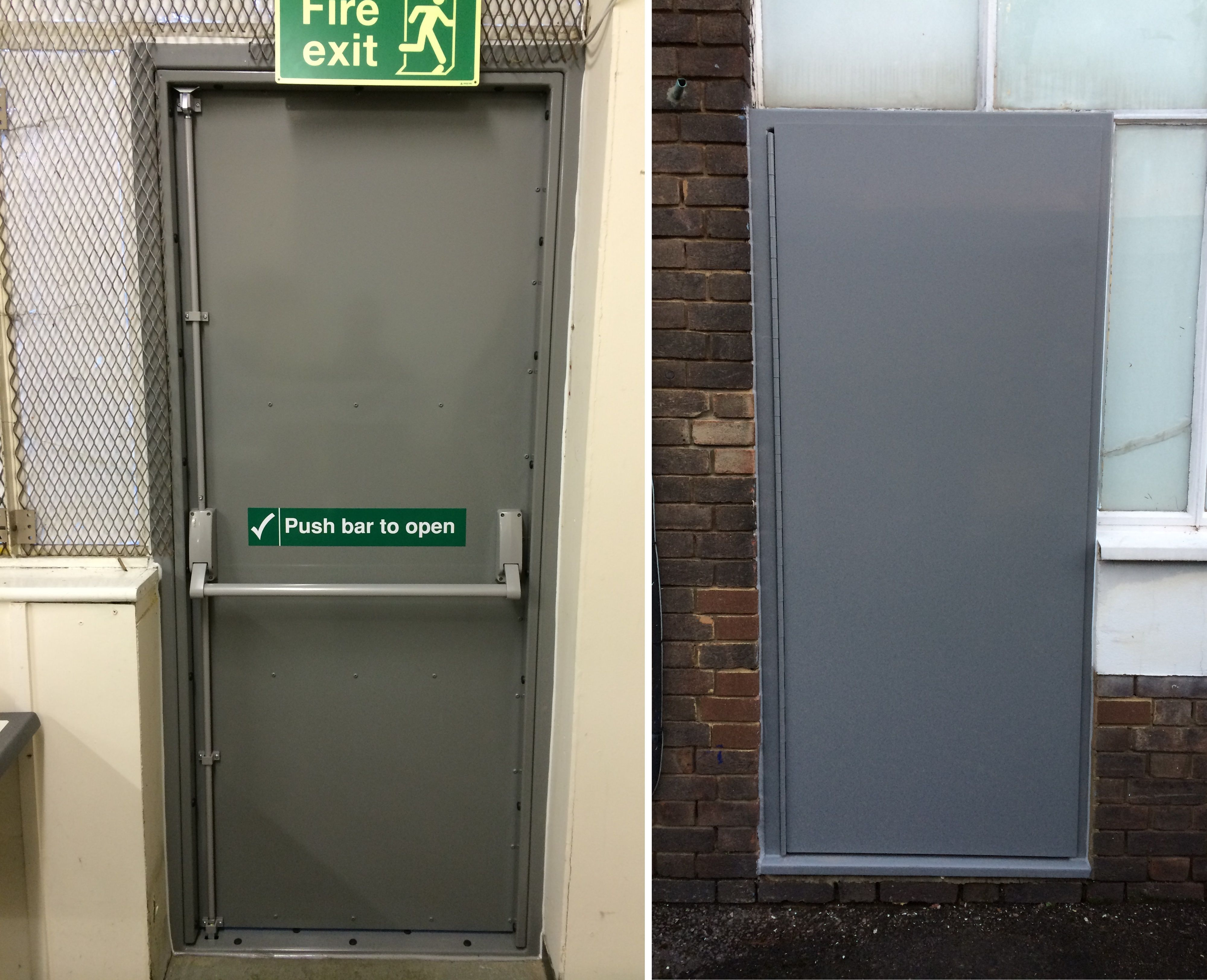 Fire Escape Door : Rsg single fire exit security doors heavy duty