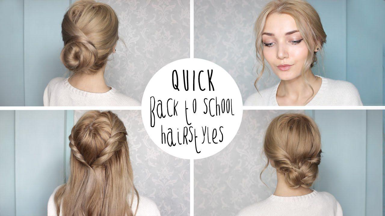 Easy Cute Back To School Hairstyles | Hairstyles for school, Back to school  hairstyles, Cute simple hairstyles