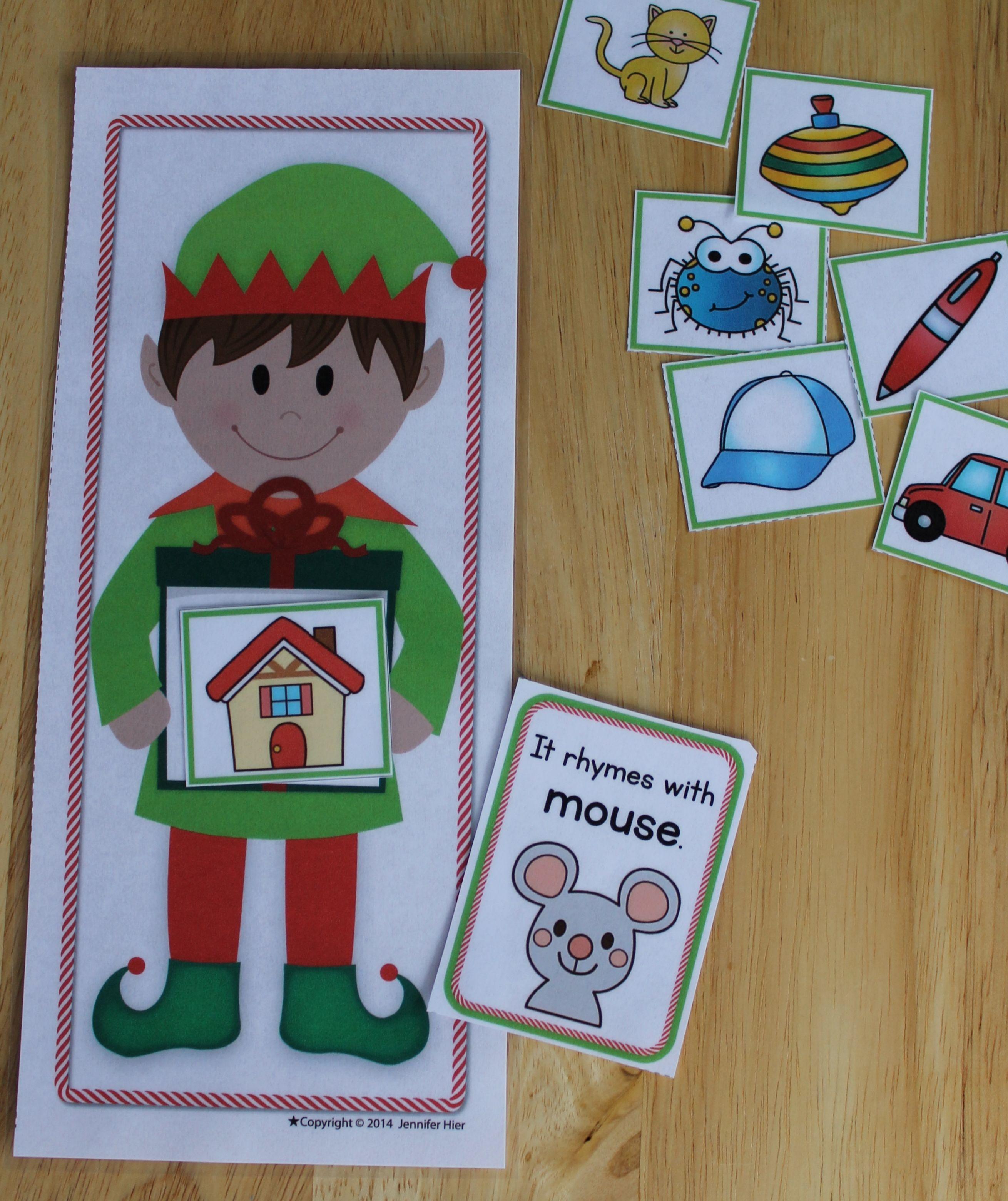 Elf Literacy Center Activities