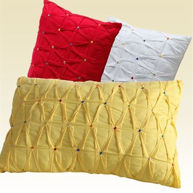 Embroidered Dot Pillow Rectangle