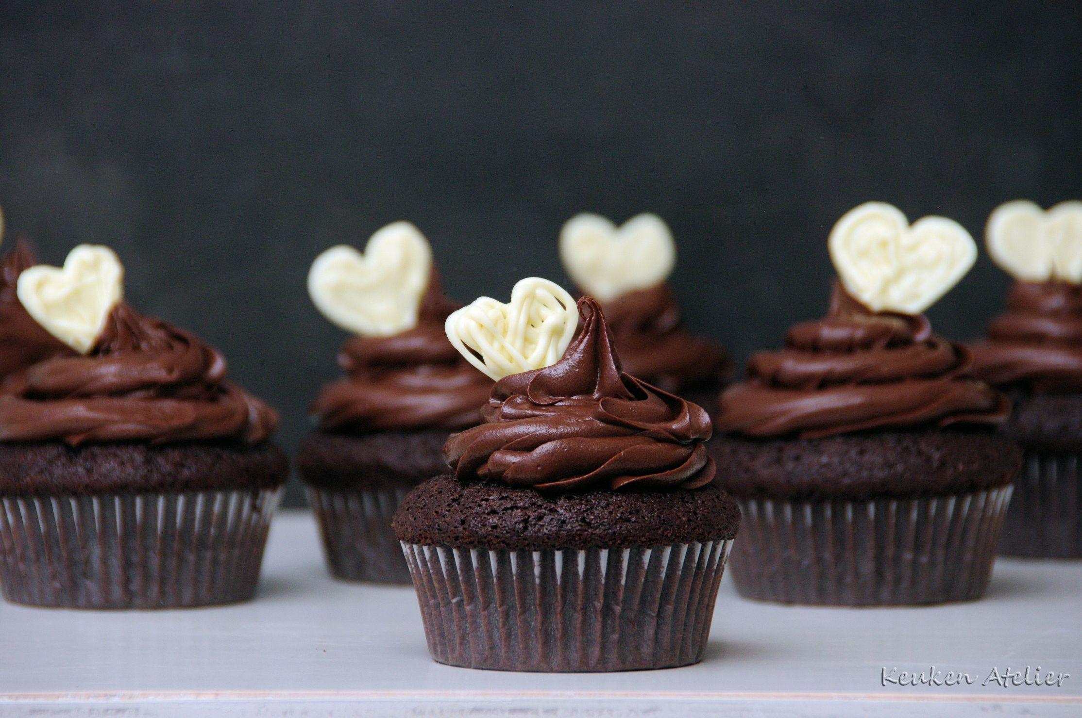 Verrassend Chocolade Cupcakes - Chocolade, Chocolade taarten en Cupcakes QC-32