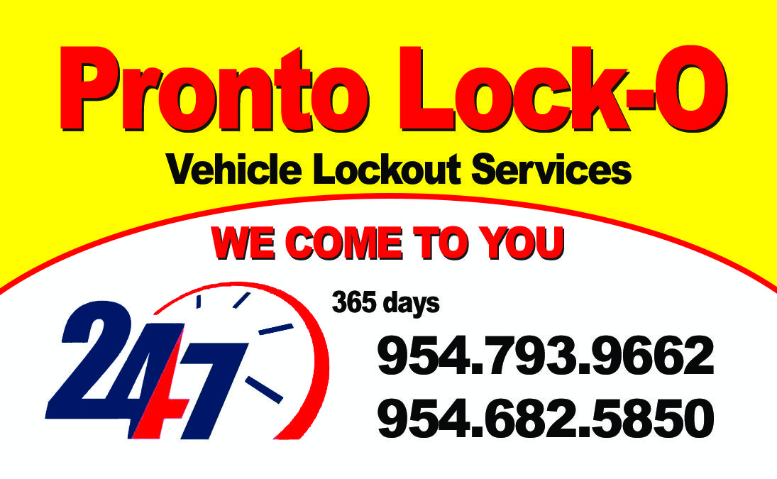 If you're locked out of your vehicle Call Pronto LockO