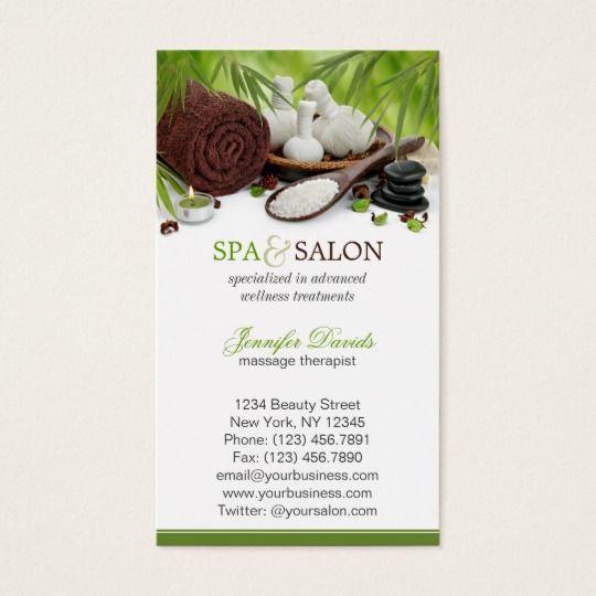 carte de visite massage Modèle de carte de visite de salon de massage de   Zazzle.fr