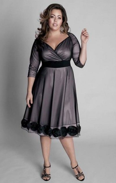 Evening black dress for a full figure | Clothes ...
