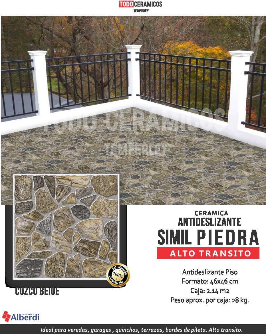 Cer mica alberdi rutilo exterior antideslizante 1ra temperle for Ceramica exterior antideslizante