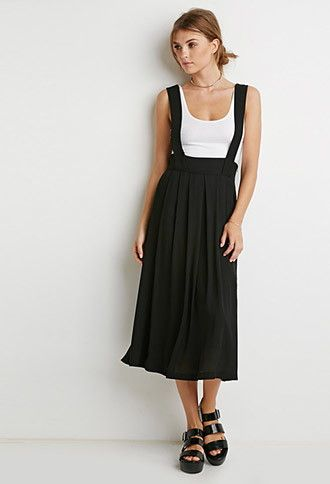 f396faaaf7 Skirts   WOMEN   Forever 21   Fashion in 2019   Overall skirt, Maxi ...