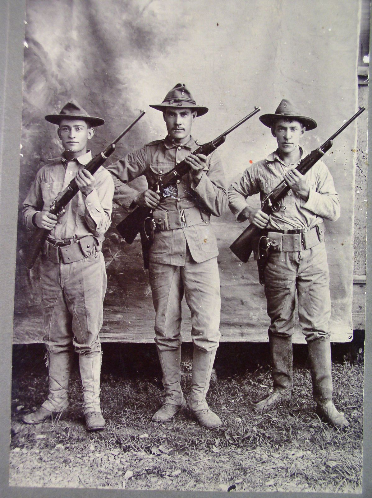 Old Spanish American War Photograph Of 3 Sol Rs