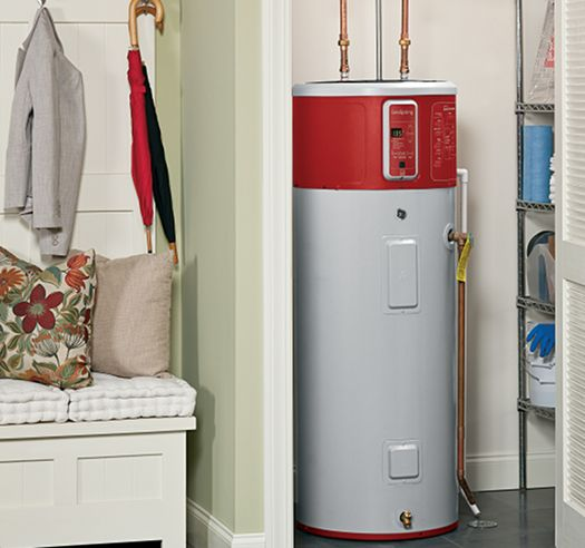 Geospring Hybrid Electric Water Heater From Ge Photo Credit Ge Appliances Geospring Has An Ener Heat Pump Water Heater Hybrid Water Heaters Locker Storage