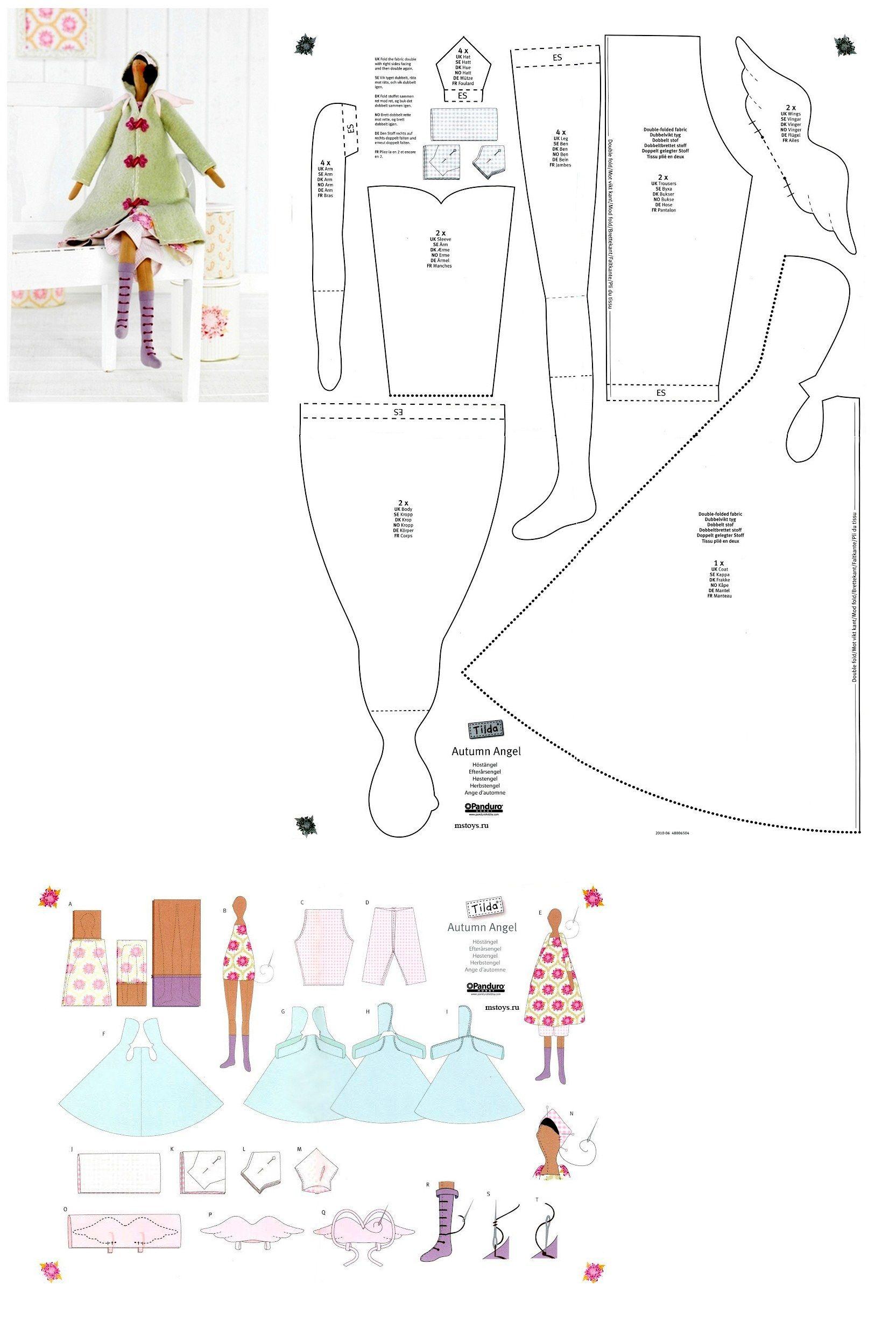Pin de Mona683 en Crafts | Pinterest | Muñecas, Muñecas de trapo y Molde