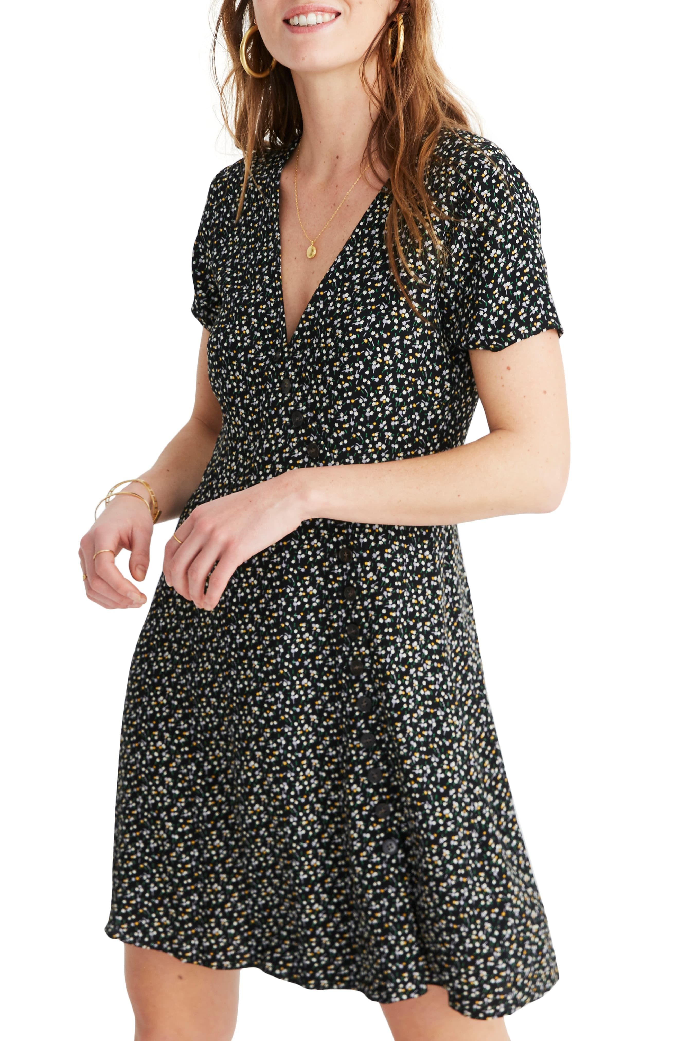 d6064d26a63f6 Women's Madewell Button Wrap Dress, Size 22 (similar to 20W-22W) - Black