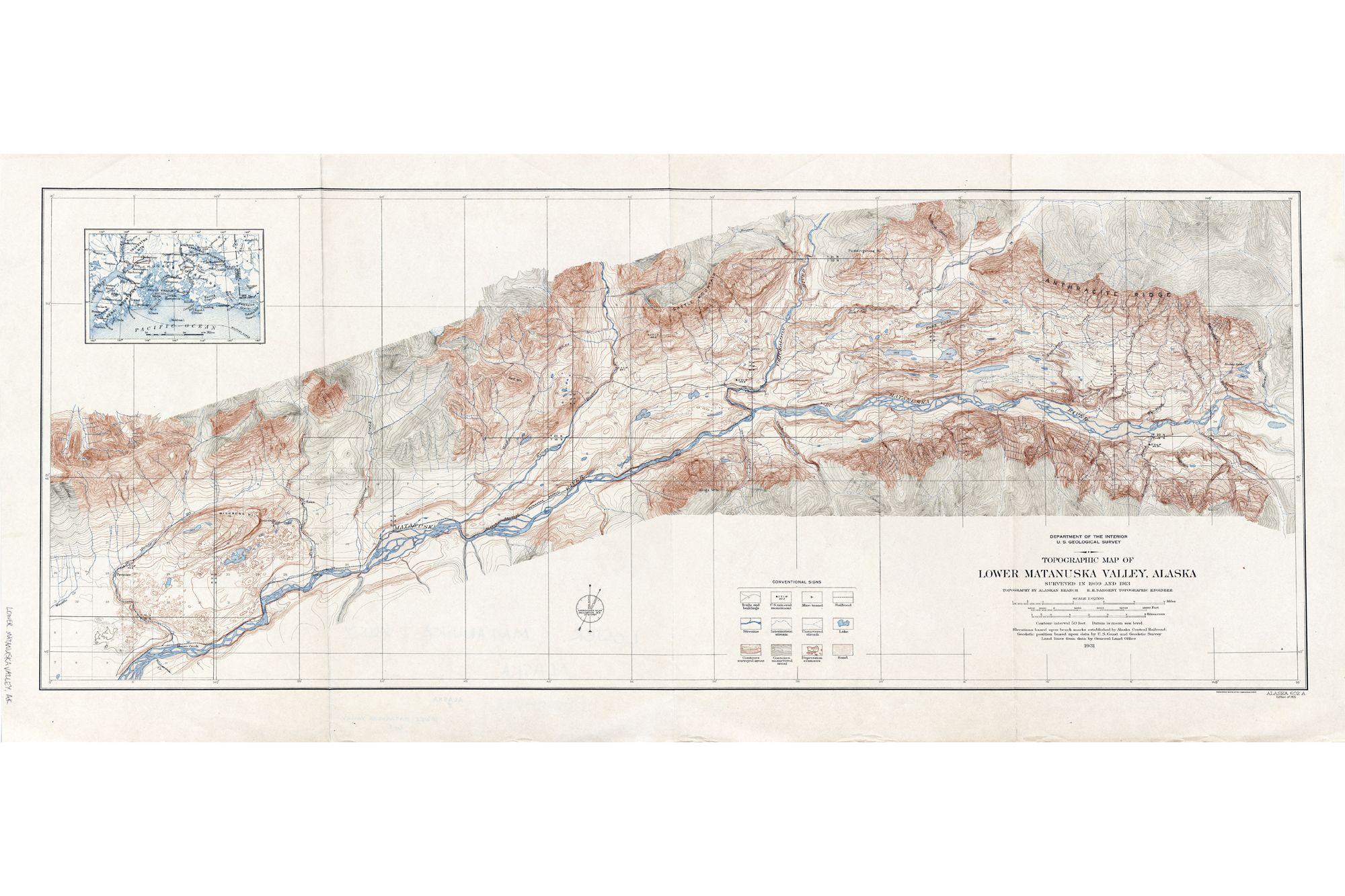 Alaska Topographic Maps, USGS - ATLAS OF PLACES | CARTOGRAPHY ...