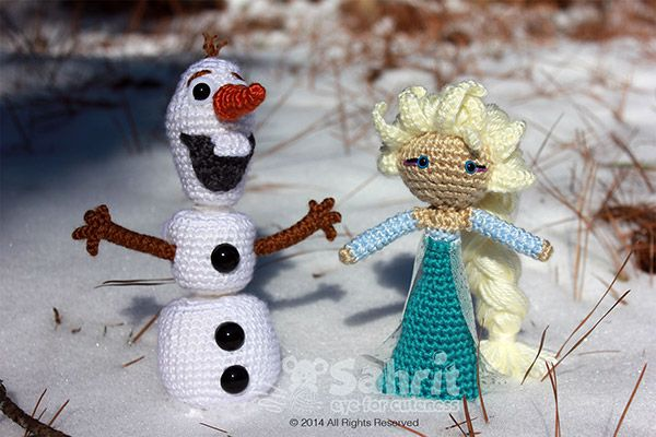 Amigurumi Olaf Tutorial : Funny snowman amigurumi pattern by sahrit shops amigurumi and