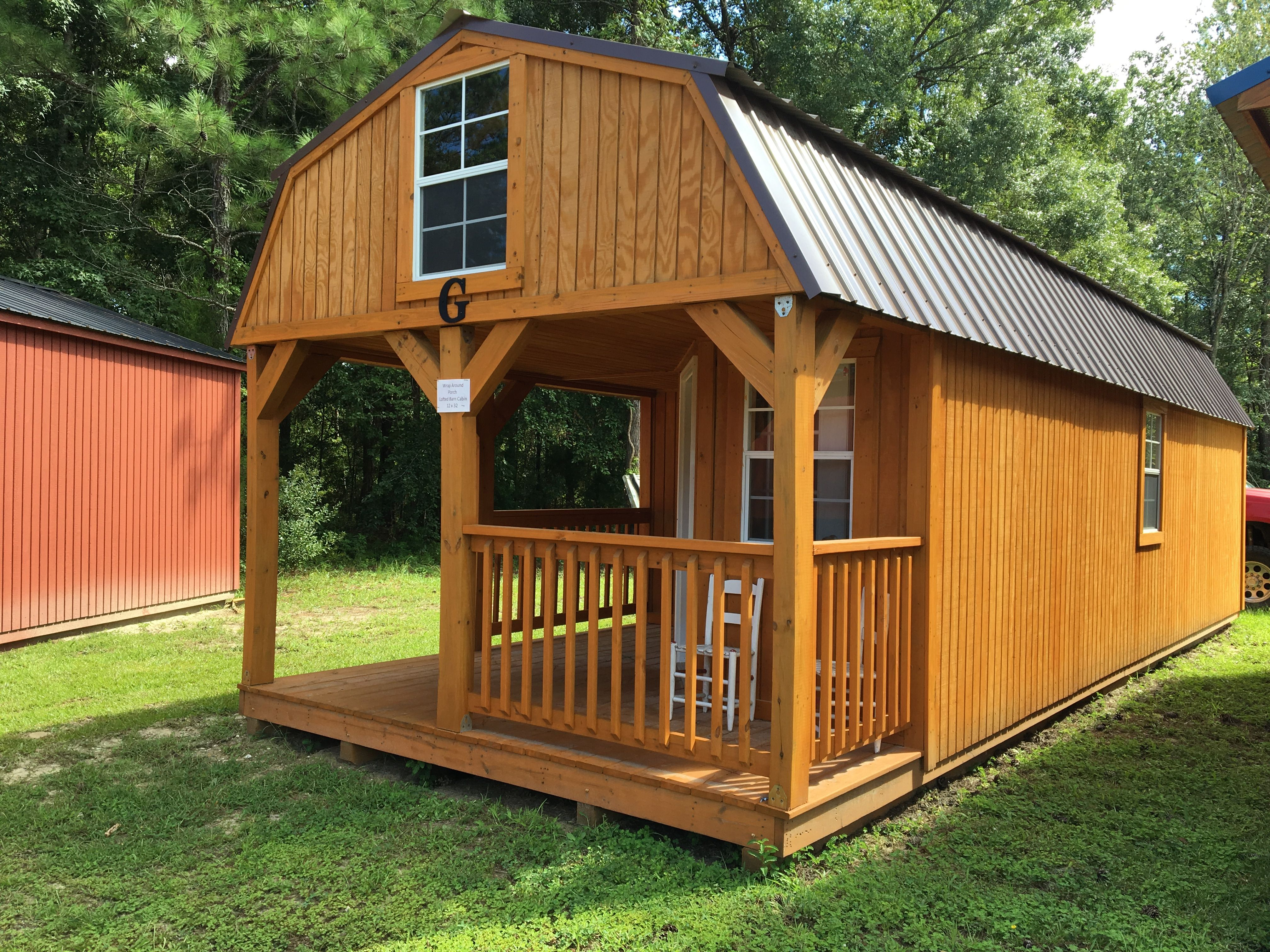 12x32 Wrap Around Corner Porch Lofted Barn Cabin Building A Shed Building A Shed Base Outdoor Sheds