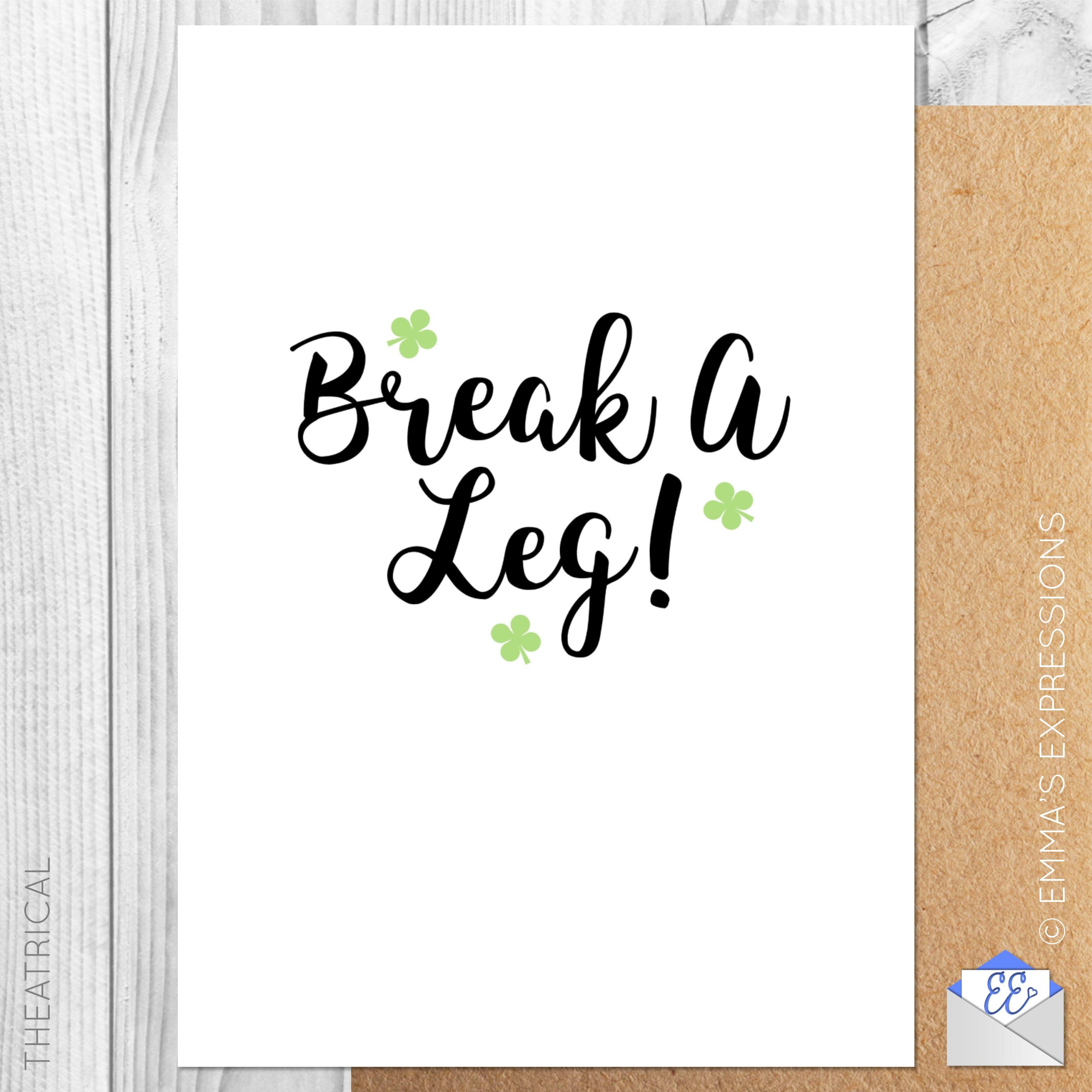 Break A Leg By Eli Rolandova On Etsy Pinned With Treasurypin Com
