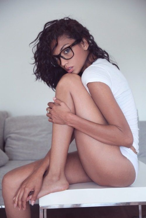 skinny girl with latina glasses Hot