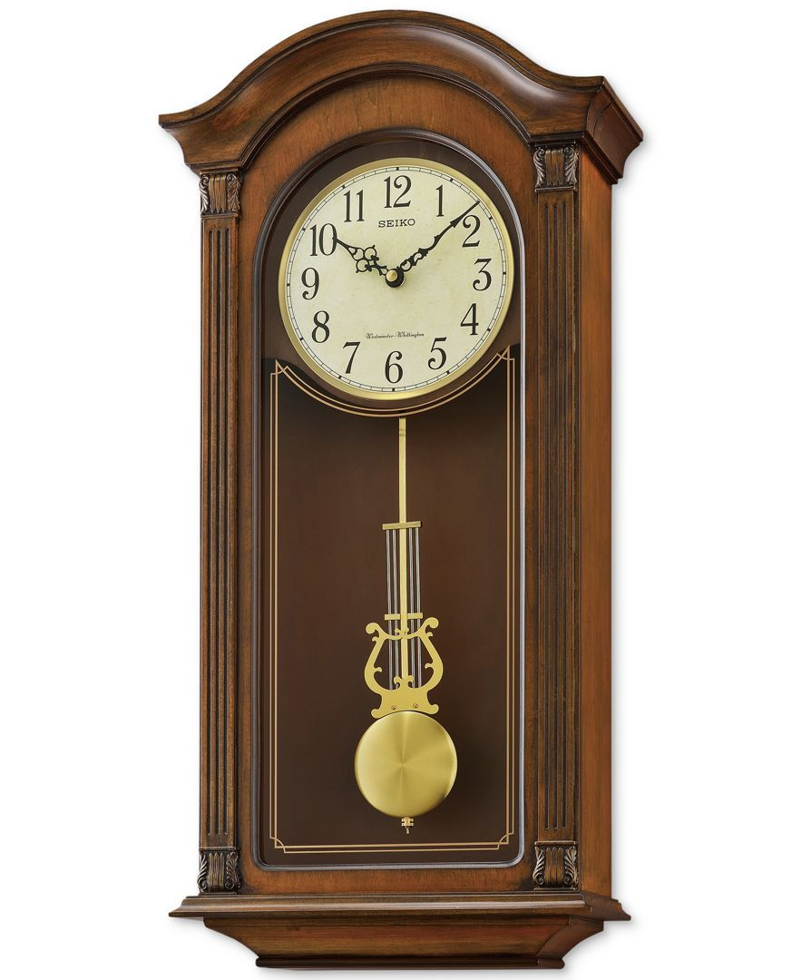 Seiko Traditional Classics Wooden Pendulum Wall Clock In 2020 Pendulum Wall Clock Clock Wood Wall Clock