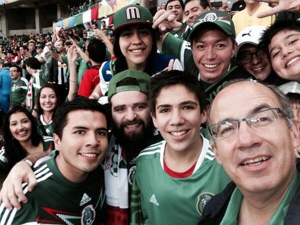Felipe Calderon, expresidente de Mexico en el Mundial