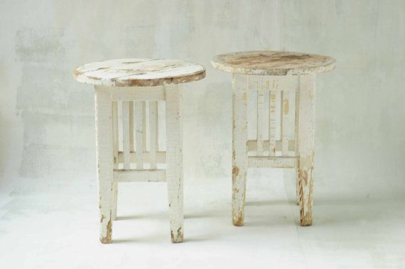 boho stool vintage by indru on Etsy Authentic vintage stool from the Eastern European country side. Makes a lovely set of bedside tables. 2 available - $ 118 / pc