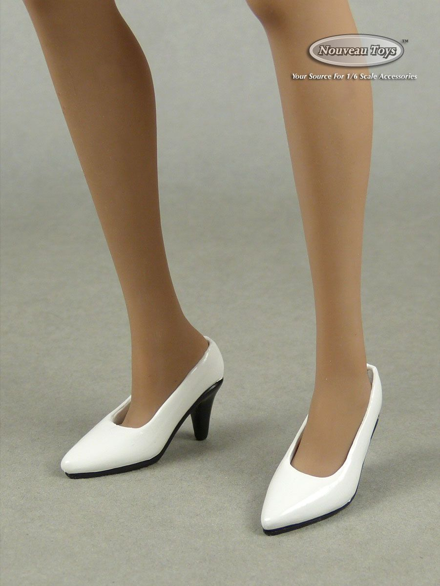 1//6 Scale High-heeled Shoes for Female Action Figure black Color