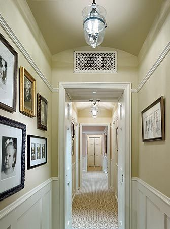 Having The Same Color On Walls And Ceiling Gives This Hallway In A Winnetka Home Designed By Gary Beyerl Kristin Fogarty Of Burns