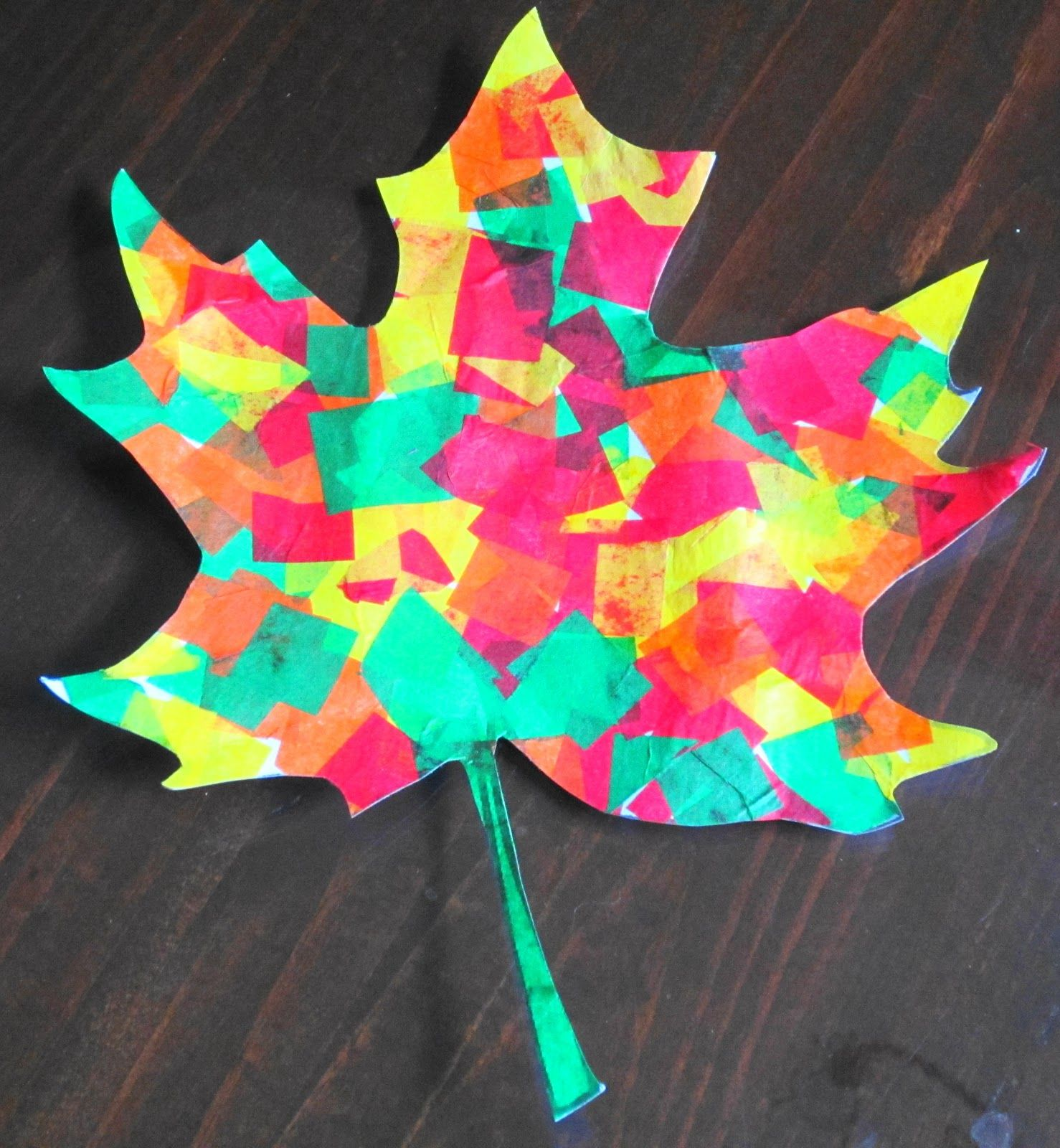 Beautiful Tissue Paper Fall Leaves
