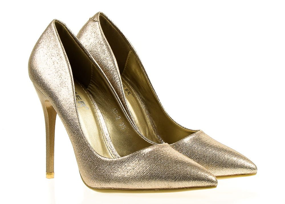 Wysokie Karnawalowe Szpilki W Kolorze Zlotym Comer Collection Heels Stiletto Shoes