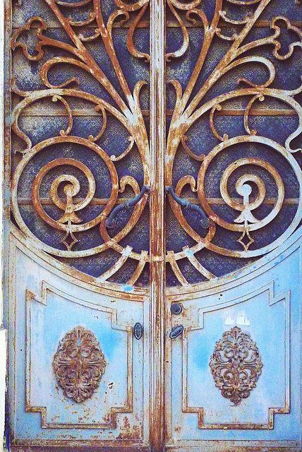 Blue Gold Door Porte Fenetre Portes Anciennes Et Vieilles Portes