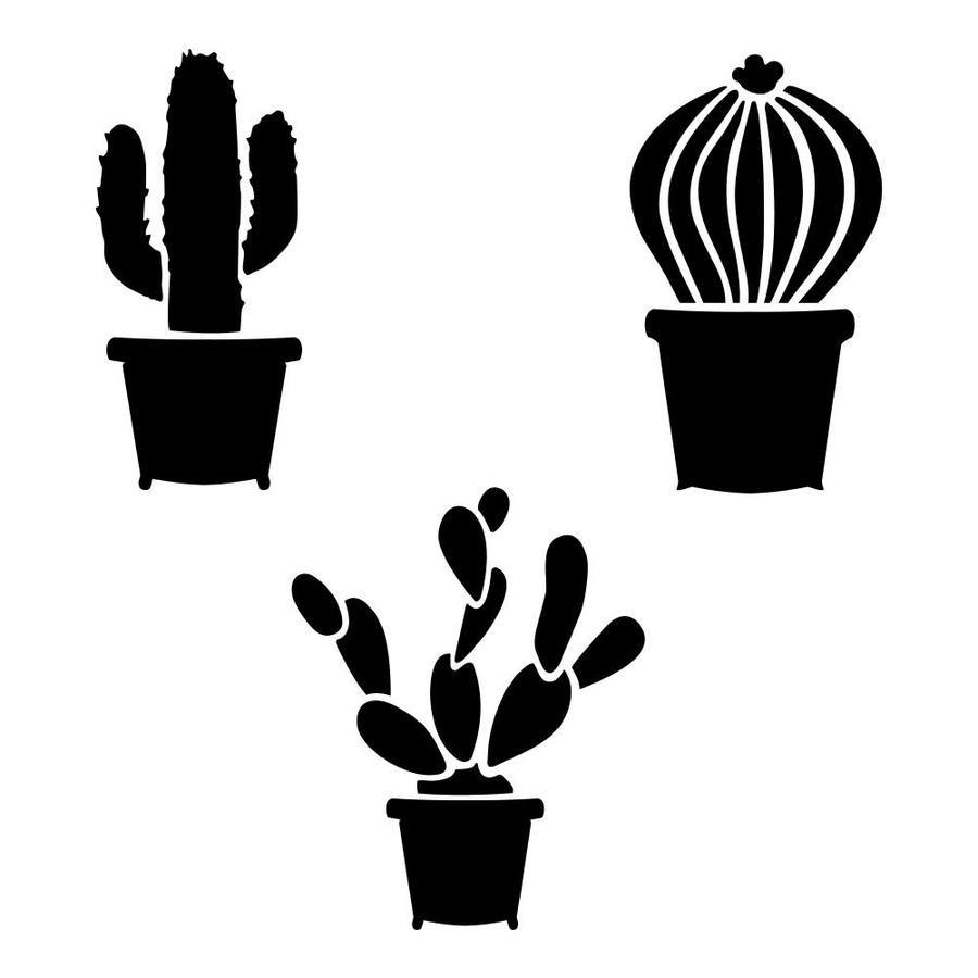 Designer Stencils Cactus Stencil Lowes Com Stencils Printables Templates Stencil Patterns Templates Printable Stencil Patterns