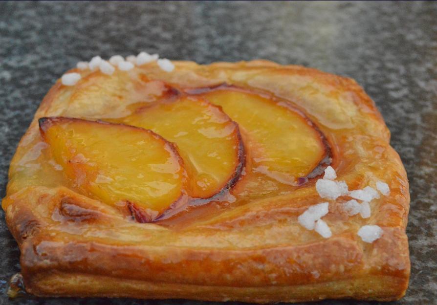 Peach Custard Danish Pastry Pastry Resep Restoran