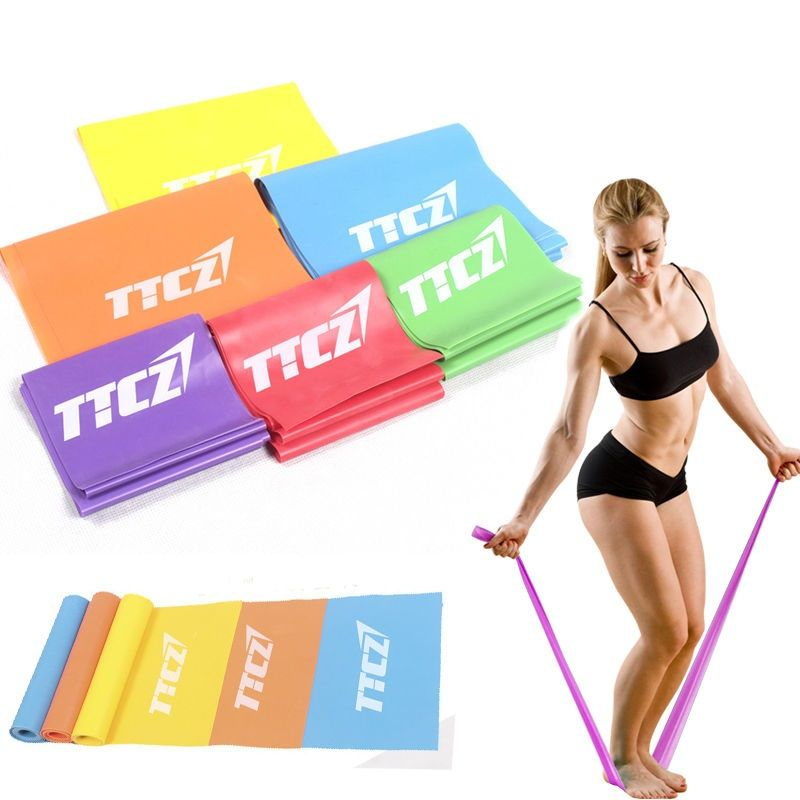 New Rubber Elastic Yoga Resistance Bands Exercise Fitness Loop