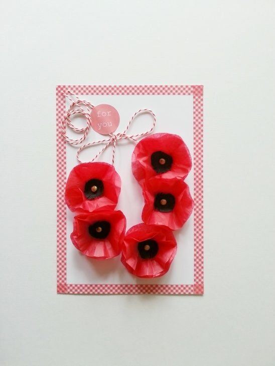 Paper Poppies by BeColorAnd | Project | Papercraft / Decorative | Kollabora