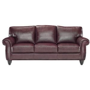 Italsofa L185 Upholstered Turn Leg Sofa