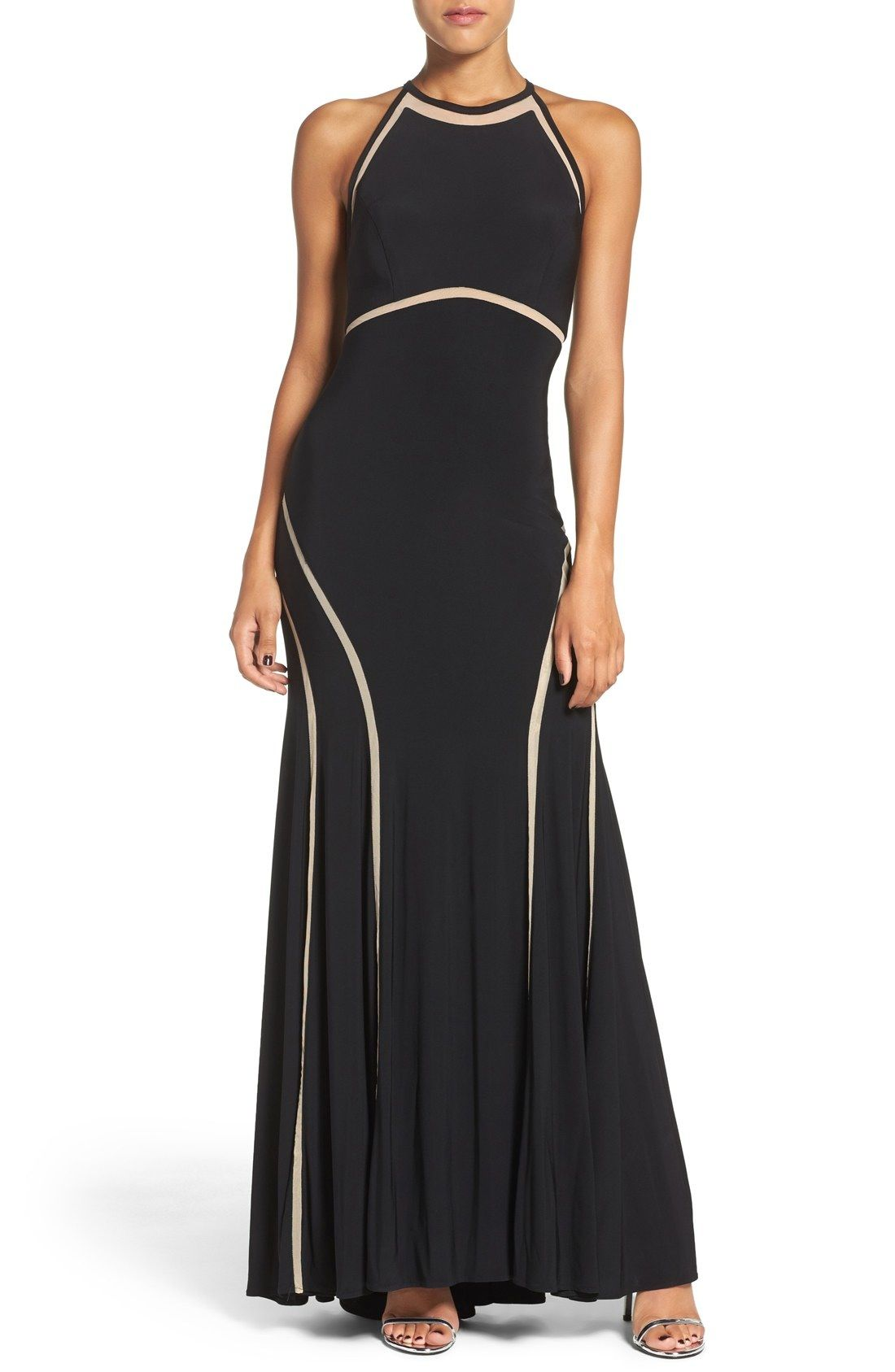Xscape illusion inset jersey gown available at nordstrom dress to