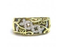 5.85 ct Tiger Eye & 0.07 ctw Diamond 14K Yellow Gold Ring
