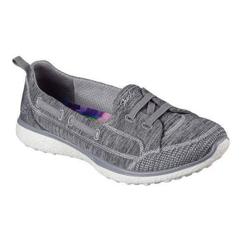 Women's Skechers Microburst Topnotch Walking Slip On Gray