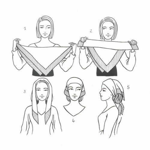 How To Tie A Peasant Tie Square Scarf Great To Try For A Head Wrap Kopfbedeckung Frauen Kopftuch Quadratischer Schal