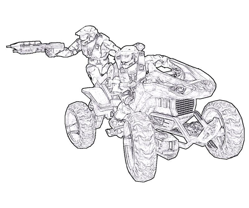 Free Printable Halo Coloring Pages For Kids | Halo master chief ...